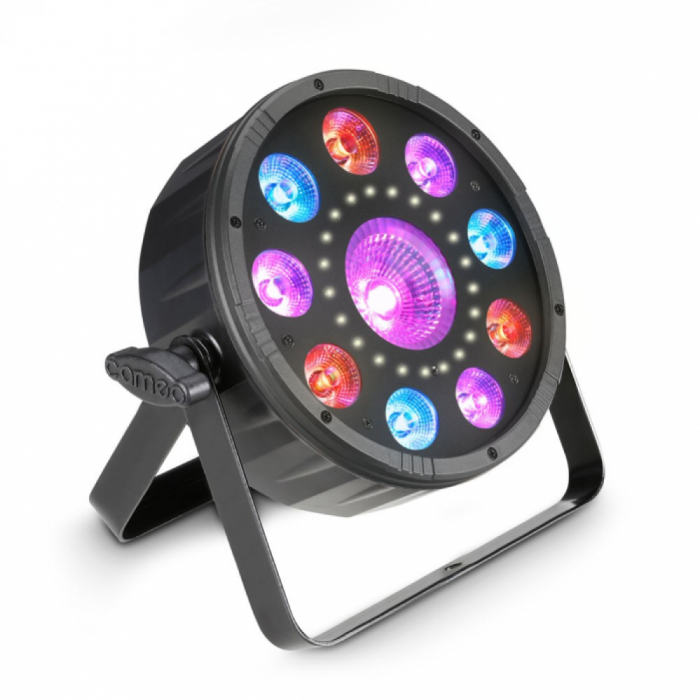 Cameo FLAT MOON - Flat 3-in-1 multi-effect RGB+UV PAR-light with strobe
